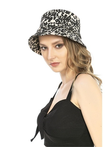 Y-London 14021 Leopar Desenli Bucket Şapka Renkli